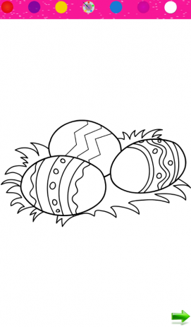 Скриншот Раскраска: Пасхальные яйца