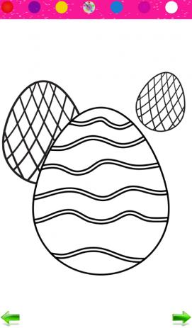 Раскраска: Пасхальные яйца | Android