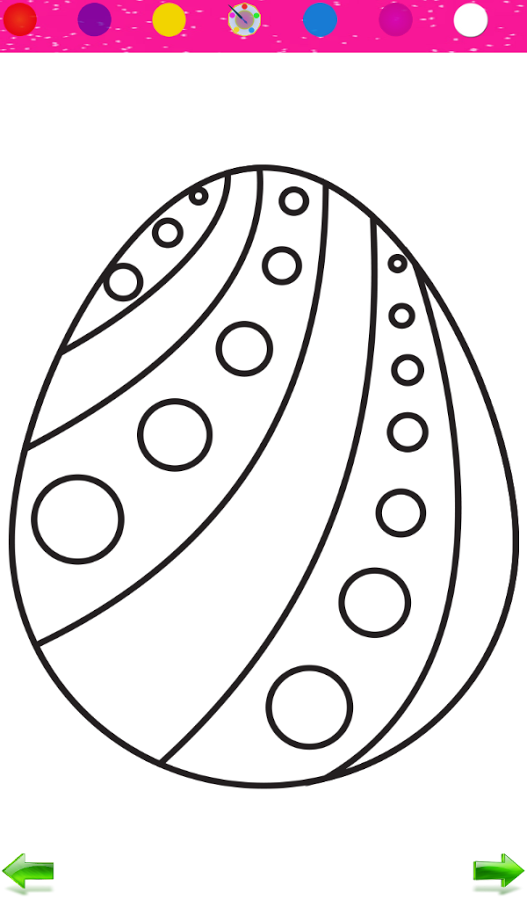 Here sample image of coloring pages easter eggs basket
