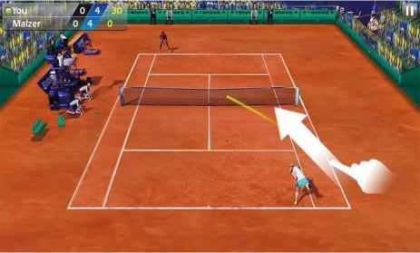 Poster Теннис пальцем 3D - Tennis