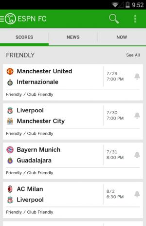 Скриншот ESPN FC Football
