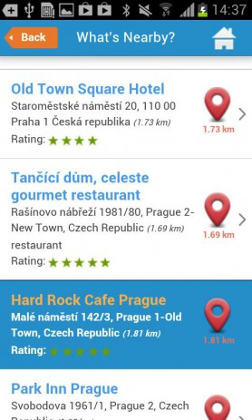 Скриншот Тур гид по Праге Oтели погода