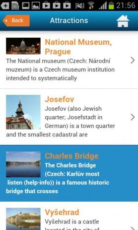 Тур гид по Праге Oтели погода | Android