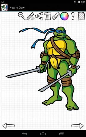 Dibujar Tortugas Ninja 1.02 descargar en Android gratis | Captain Droid