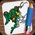 Рисуем Ниндзя Черепашки на андроид скачать бесплатно