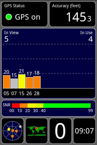 Скриншот GPS Test 0