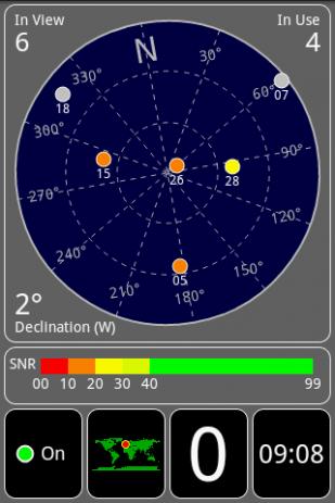 Скриншот GPS Test 1