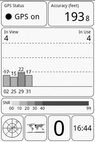 Скриншот GPS Test 7