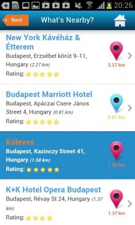 Скриншот Будапешта гид гостиницы погода