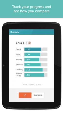 Скриншот Lumosity - тренировка мозга