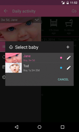 Baby Daybook - daily tracker | Android