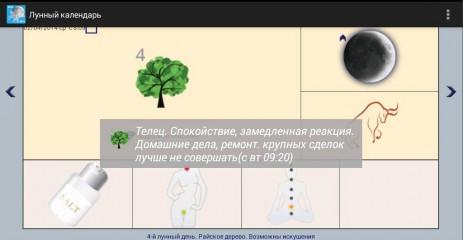 Скриншот Лунный календарь