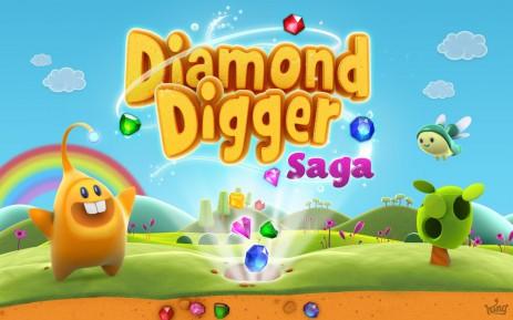 "Poster <span lang=""ru"">Diamond Digger Saga</span>"