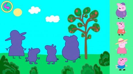 Скриншот Свинка Пеппа детские пазлы