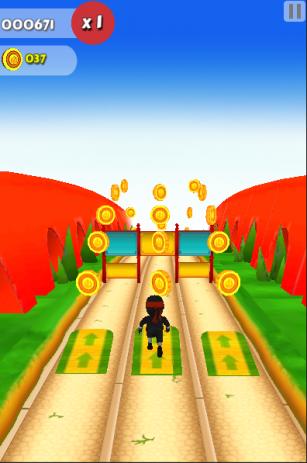 Скриншот Subway ninja run