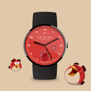 Скриншот Angry Birds Aviator Watch Face