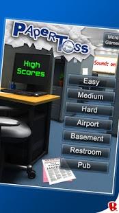 Скриншот Paper Toss