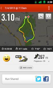 Скриншот Nike+ Running
