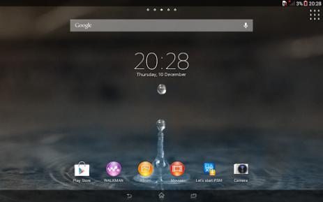 Скриншот Xperia™ Blue Water Theme