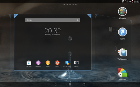 Xperia™ Blue Water Theme | Android