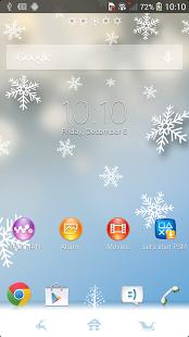Скриншот Тема Xperia™ Winter Snow