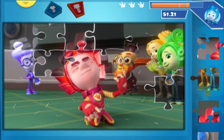Скриншот КвестоПазл: Пазлы с фиксиками! 0