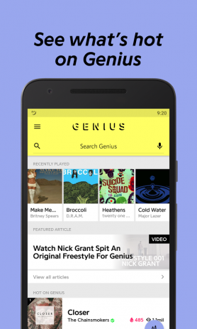 Genius — Song Lyrics & More | Android