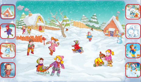 Скриншот Учим стихи про зиму!