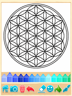 Mandala Boyama Mandala Coloring Pages 664 Androidde Indir