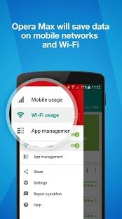 Скриншот Opera Max 5