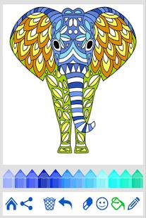 Скриншот Книжка-раскраска: Животные