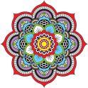 Mandala coloring pages 2 - icon