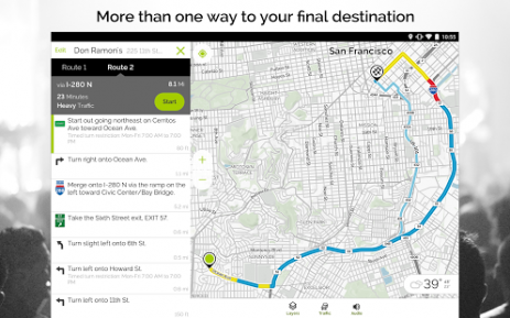 mapquest gps navigation app