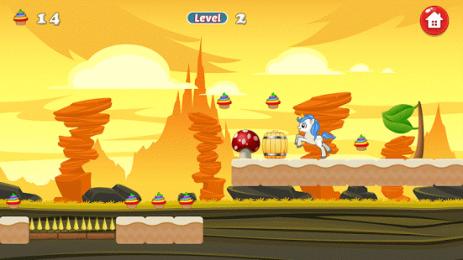 Скриншот Unicorn Dash Attack
