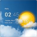 Прозрачные часы и погода android