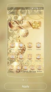 Золотые снежинки: тема Xmas | Android