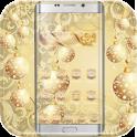 «Золотые снежинки: тема Xmas» на Андроид