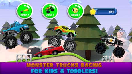 Скриншот монстр грузовик для детей