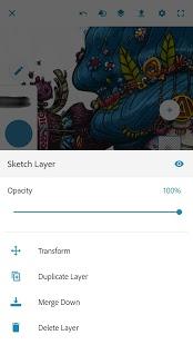 Скриншот Adobe Photoshop Sketch