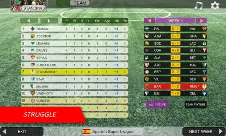 Скриншот Mobile Soccer League