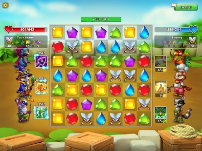 Скриншот Pet Heroes: Puzzle Adventure