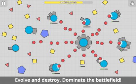 Скриншот diep.io