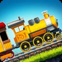 Веселые гонки для детей на поездах
