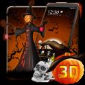 «3D Хэллоуин Тыква Ночная тема» на Андроид