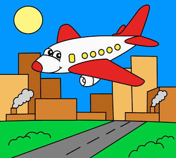 Screenshot Of Coloring Pages For Children Transport