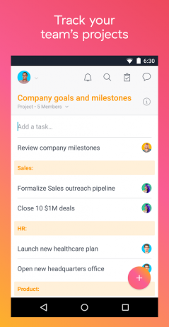 Скриншот Asana: organize team projects
