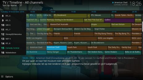 Скриншот Kodi