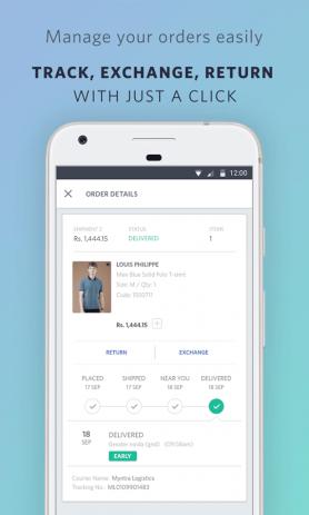 Скриншот Myntra Online Shopping App