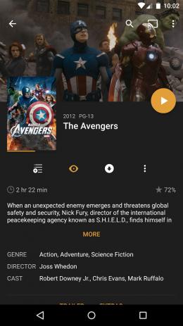 Скриншот Plex