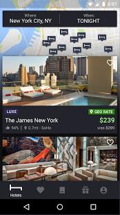 Скриншот HotelTonight - отличные цены